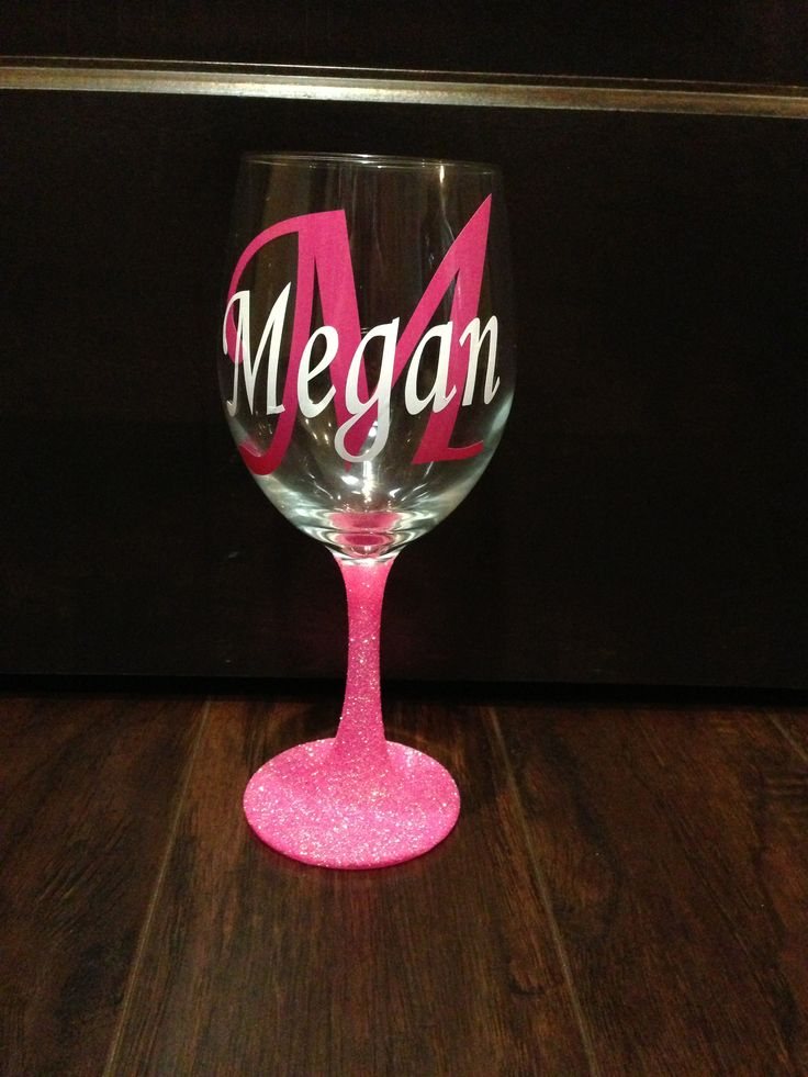 282 Best Glitter Wine Glass Images On Pinterest Glitter