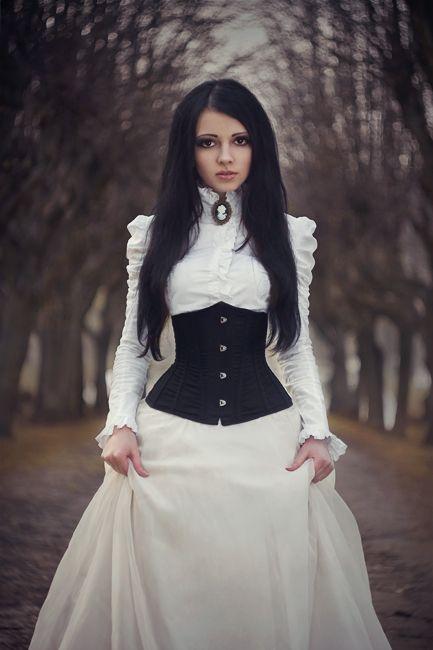 .Neo-Victorian #Goth girl in white