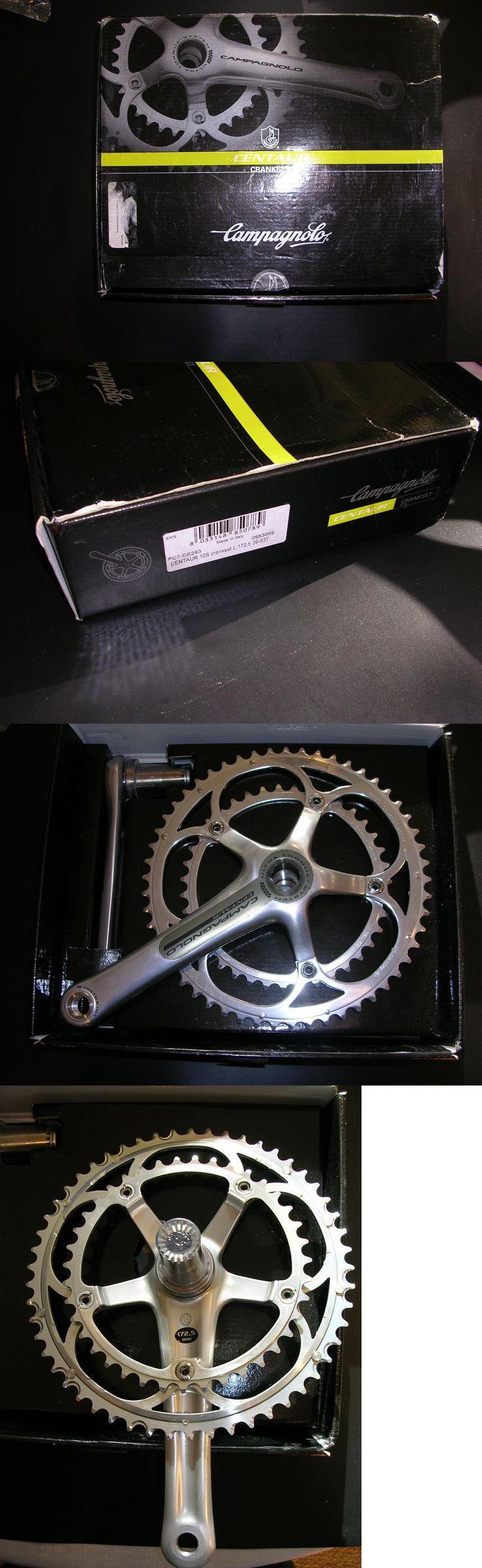 Cranksets 109118: New Campagnolo Centaur Ultratorque 10 Spd Alloy Race Chainset 53-39 172.5 W Cups -> BUY IT NOW ONLY: $99 on eBay!