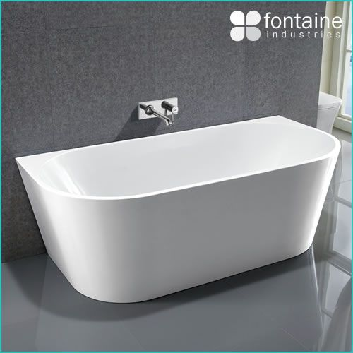 Harper back to wall bath 1700 fontaine industries for Small baths 1500