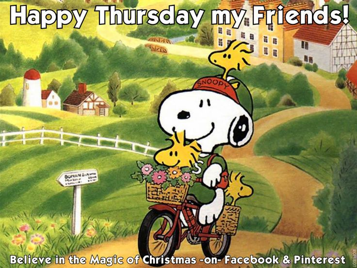 Snoopy Happy Thursday Quote