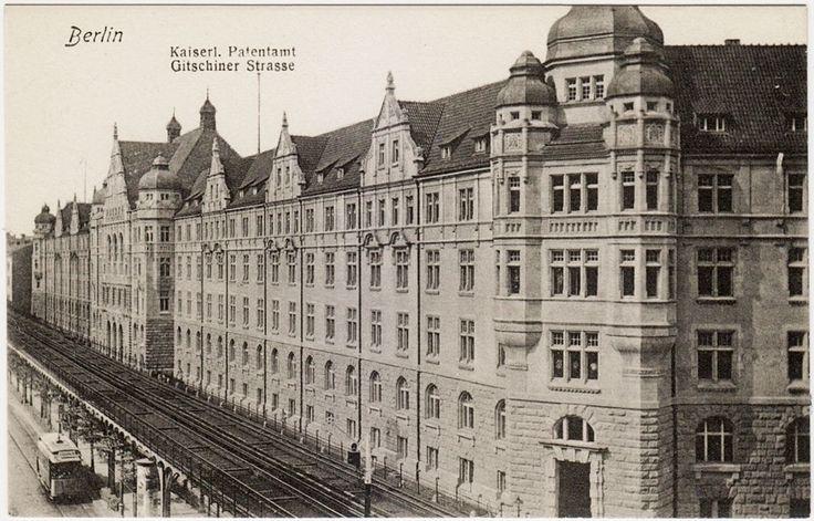 Gitschiner Straße mit Kaiserlichem Patentamt und Hochbahn Ungelaufen.. schätzungsweise.. um1910