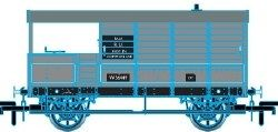 Oxford Rail OR76TOB004 Toad Brake Van AA3 4 Wheel BR Plated 56449 Bala - OO Scale: Rolling Stock Freight, Brake Vent and Box Vans.  Your Price: £12.71 MRP: £14.95 Save £2.24 (15%)