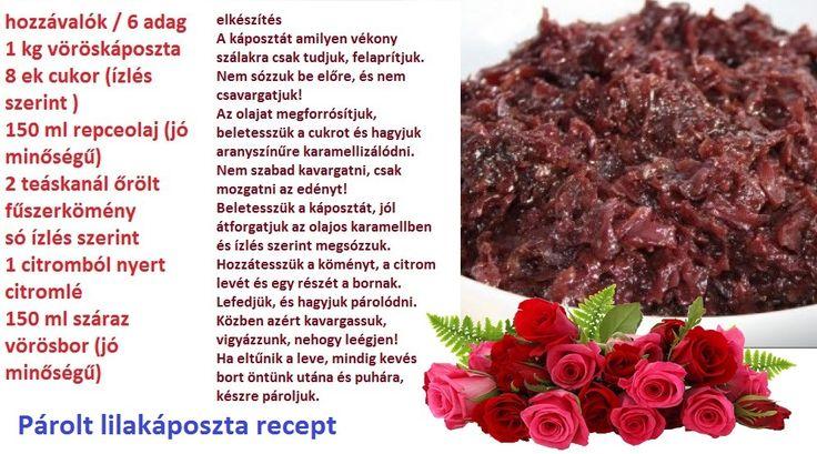 Párolt lilakáposzta recept