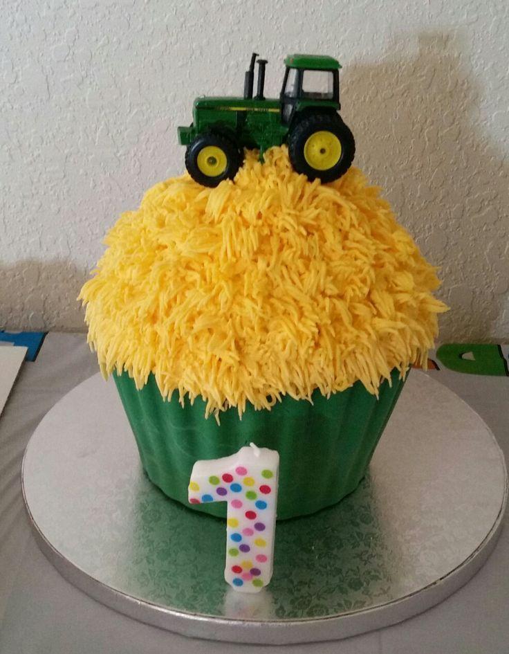 John Deere cupcake smash cake