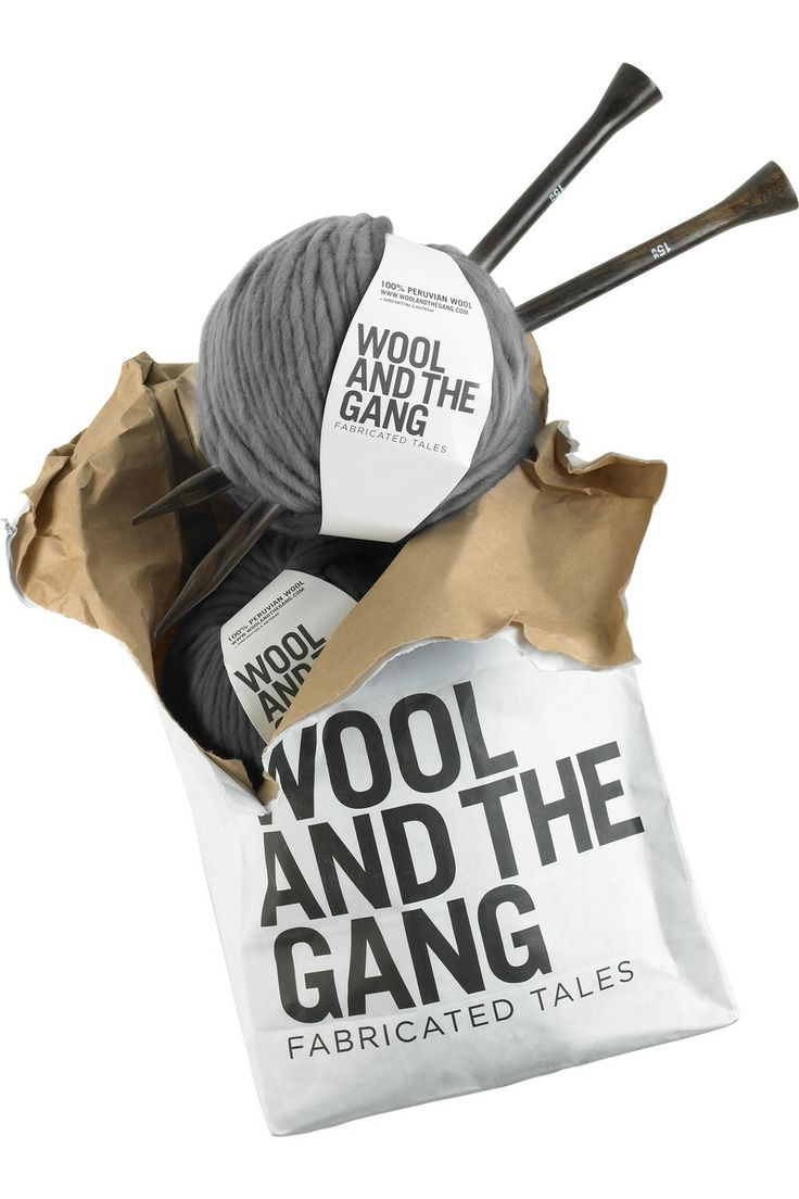 Wool and the Gang: Peruvian Wool DIY vest kit. #packaging #design