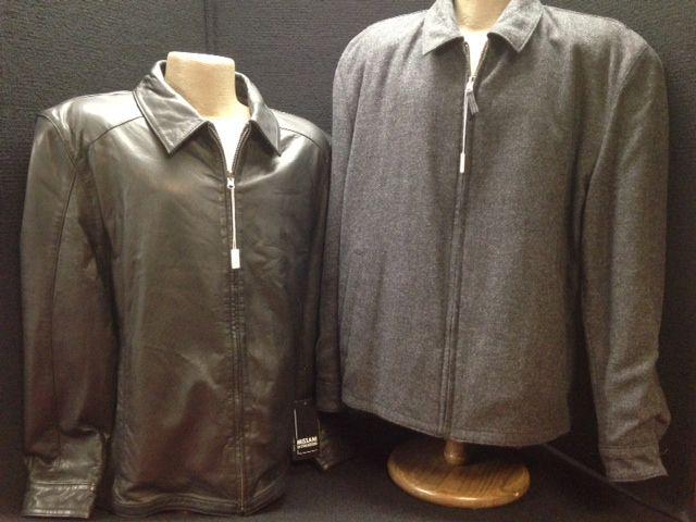 Awesome Missani reversible leather jacket.