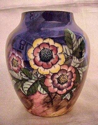 "Art Deco H K Tunstall Gaiety England Pottery 5"" Primula Vase Like Moorcroft | eBay"