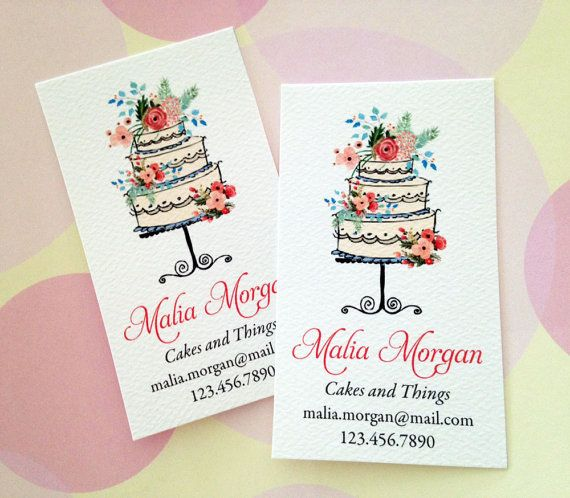 Personalized Business Cards, Custom Business Cards, Bakery Business Card, Set of…                                                                                                                                                                                 More