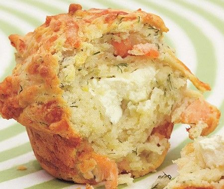Salmon & Dill Muffins Recipe - I'm trying it with canned salmon and I might use butter instead of oil