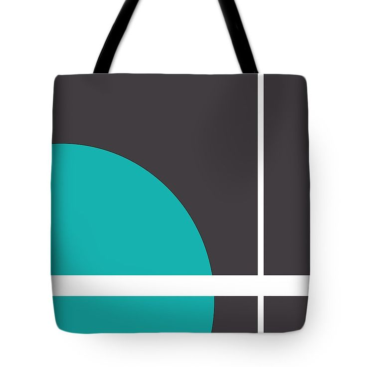 """Turquoise Tote Bag (18"""" x 18"""") by Muge Basak.  The tote bag is machine washable, available in three different sizes, and includes a black strap for easy carrying on your shoulder.  All totes are available for worldwide shipping and include a money-back guarantee."""