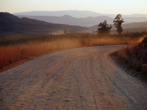Road Between Lower Loteni and Himeville in the Southern Drakensberg Ranges, South Africa Photographic Print