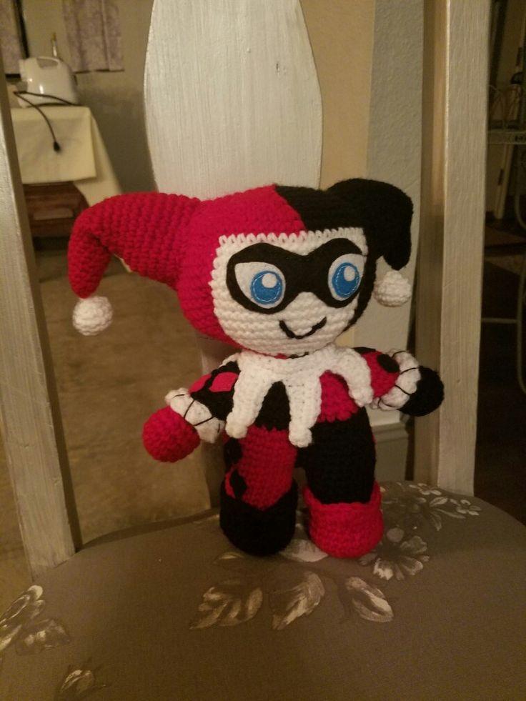 Amigurumi Harley Quinn : Harley Quinn amigurumi crochet doll handmade as I went ...