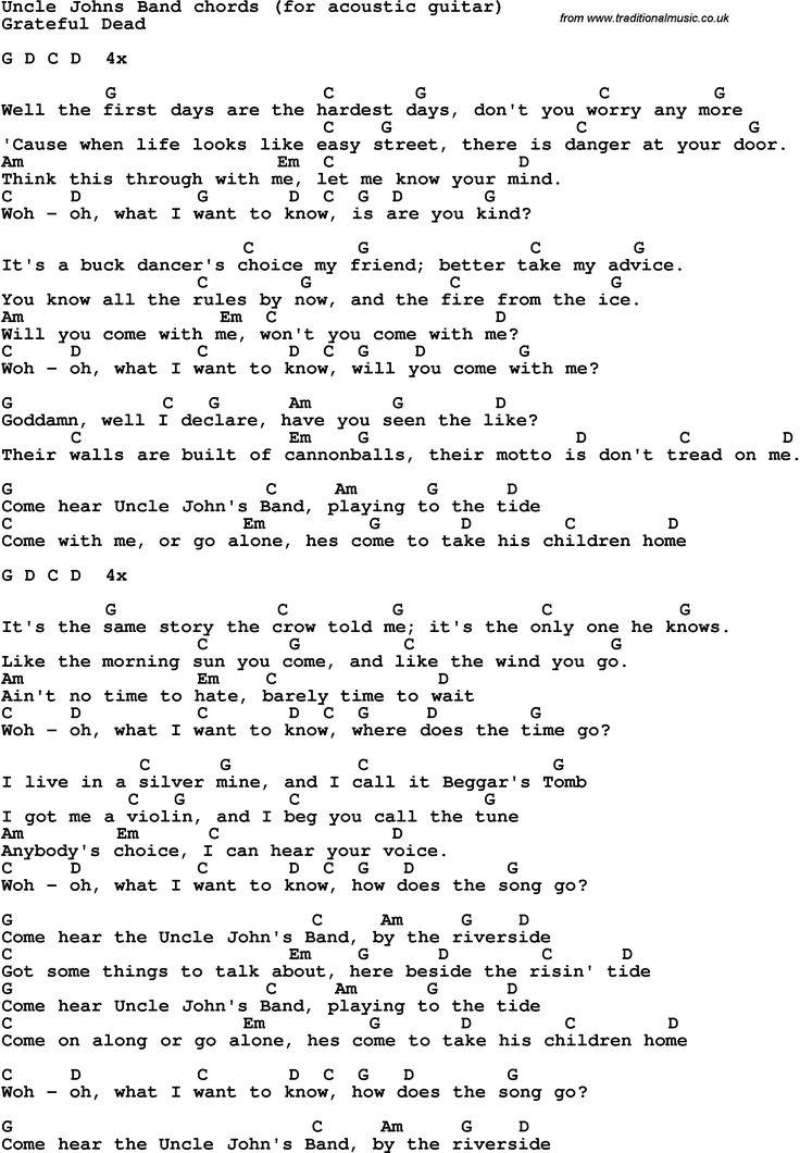 596 best Songs, Lyrics & Chords for Guitar images on Pinterest ...
