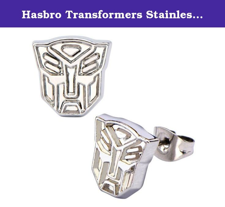 Hasbro Transformers Stainless Steel Post Plain Autobot Stud Earrings. Transformers! More than meets the Eye! Autobots vs Decepticons. Since the 1980's, every kid grew up knowing these two names and thier respective symbols. Remember these those times with this custom jewelry so you can choose sides!.