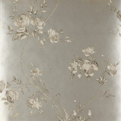 Colefax & Fowler Pavilion wallpaper - pewter background