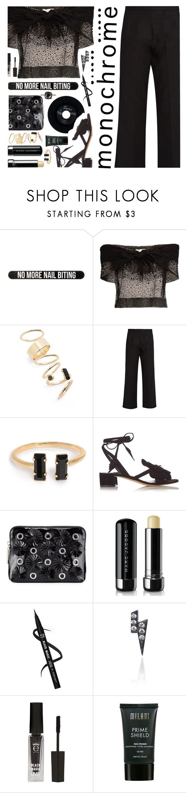 """One Color, Head to Toe"" by annbaker ❤ liked on Polyvore featuring Bershka, Isa Arfen, BP., The Row, Olgana, 3.1 Phillip Lim, Marc Jacobs, CHESTERFIELD, Loquet and Eyeko"