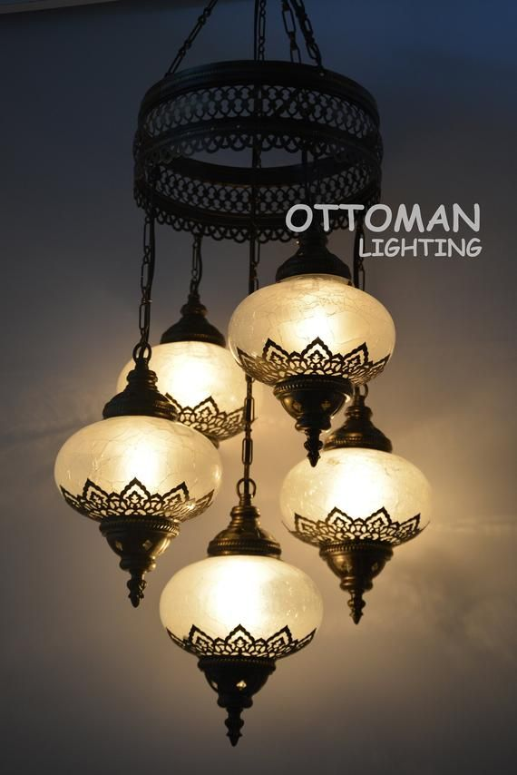 Laser Handmade Turkish 5 Big Globe Amazing Chandelier Etsy In 2020 Morrocan Decor Mosaic Lamp Turkish Lamps