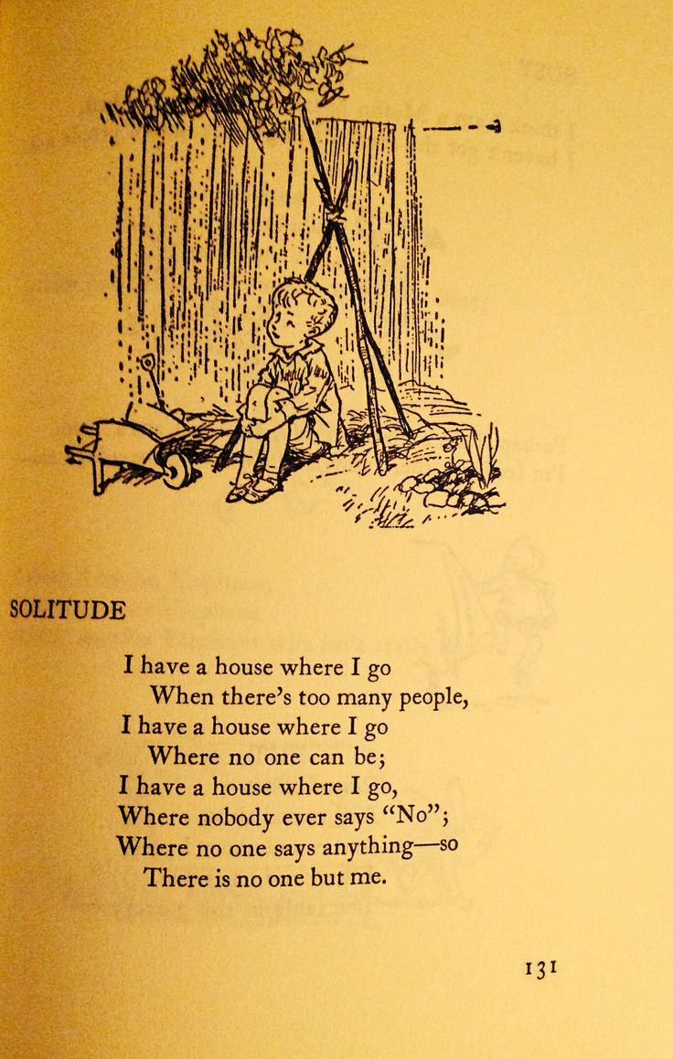 """Solitude"" by A.A. Milne, Illustrated by Earnest H. Shepard"