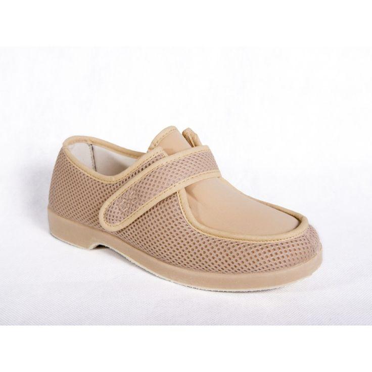 ZAPATILLA ANCHO ESPECIAL DE REJILLA RELAX CON VELCRO Y LICRA - confortableshoes.com