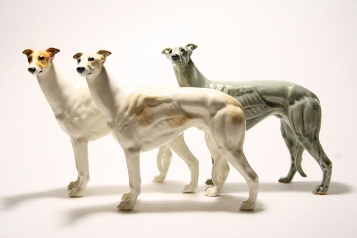 Greyhound dog  figurine ceramics, statue porcelain by RussianArtDogs on Etsy