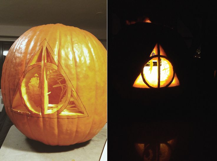 A Deathly Hallows Pumpkin. Pumpkin Carving PatternsPumpkin ... Part 50