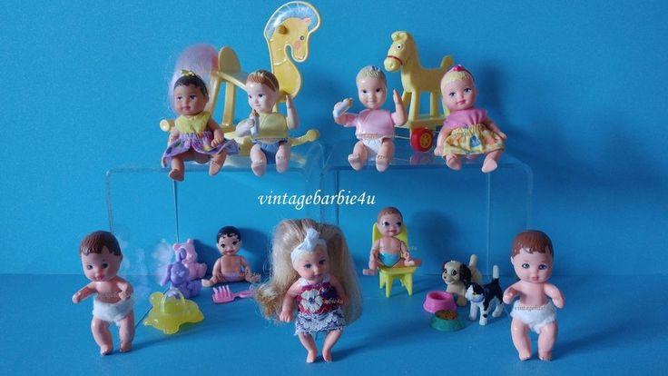 Vintage Barbie Doll Krissy Chrissy BABY LOT 9 Dolls Blonde Hair Dressed Mattel #Mattel #DollswithClothingAccessories