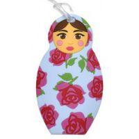Bobble Art Babushka Rose Bag Tag www.mamadoo.com.au #mamadoo #bagtags #bags