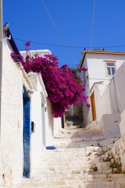 Alleys in Hydra town