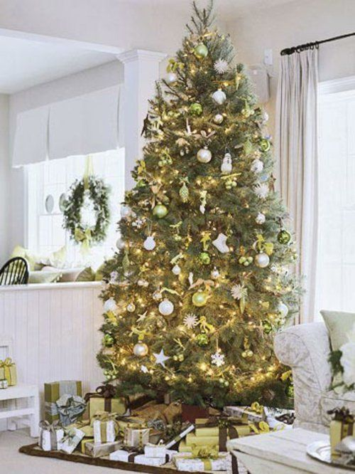 Geschm ckter weihnachtsbaum lichterketten weihnachten for Pinterest weihnachtsbaum