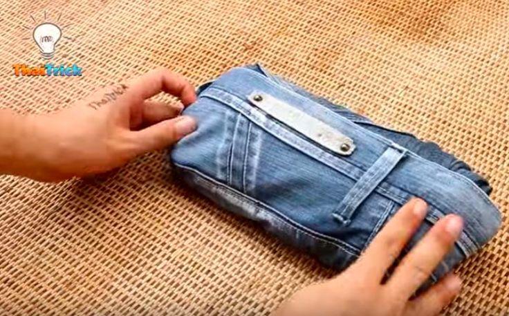 Un astuce simple pour bien plier ses jeans et gagner de la place dans la valise