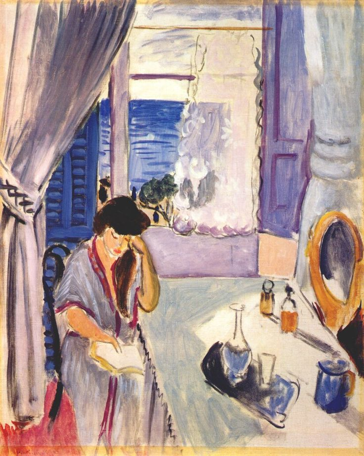 Woman Reading at a Dressing Table (Interior, Nice) by Henri Matisse, 1919