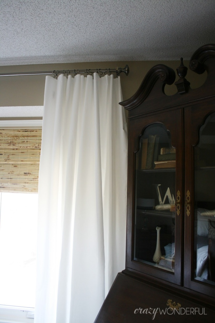 Crazy Wonderful: extra wide, extra long, extra cheap curtains (using queen sized sheets)