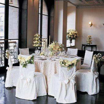 Brides: Classic All White Wedding Decor