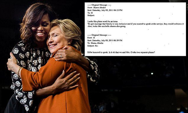 Hillary didn't want to share a plane with Michelle Obama