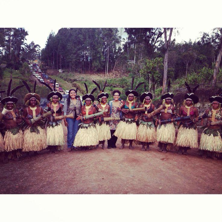 With the Engan Sili Muli dancers, Enga Papua New Guinea