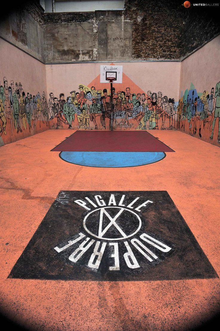 Pigalle Duperré '12 terrain de basket Paris