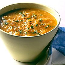 this is a Weight Watchers recipe for a 0 pro point soup.  Absolutely gorgeous.