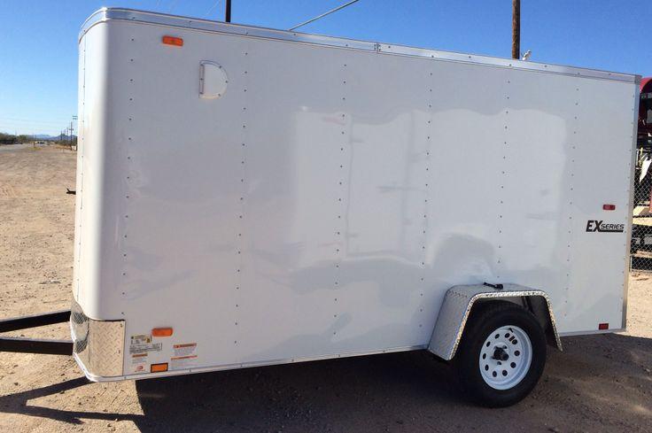 Single Axle 6×10 Cargo Express-EX Model, Rear Ramp Door-Tube Main Frame Construction, 24 O.C. Sidewall Construction, 24 O.C. Floor Construction, 24″ O.C. Roof Construction, Interior 5.2mm Luan Wall Liner, 3/4 Plywood Floor