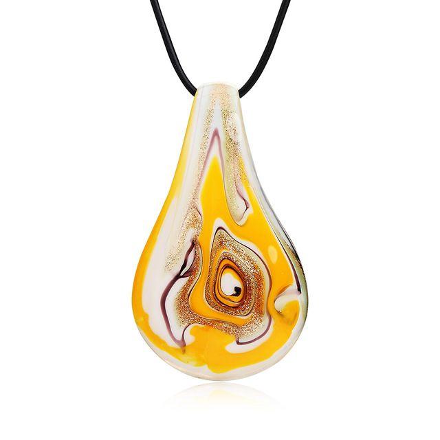 Родственники личности этническом стиле цветной глазурью заполнить орнамент водослива большой кулон ожерелье для девочки orange синий a00009