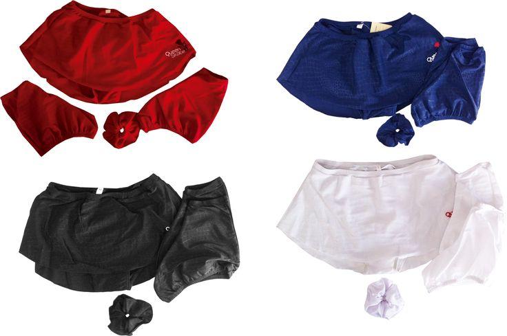 Saia calção com tapa patins e laço -  várias cores
