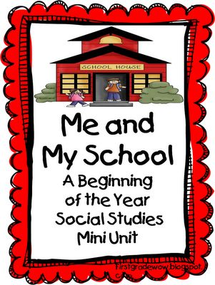 First Grade Wow: Me and My School Social Studies ideas for the beginning of…