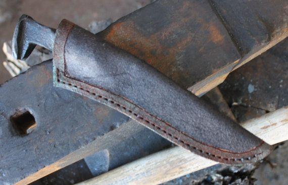 cuchillo de punta de ferrocarril por AHKnives en Etsy