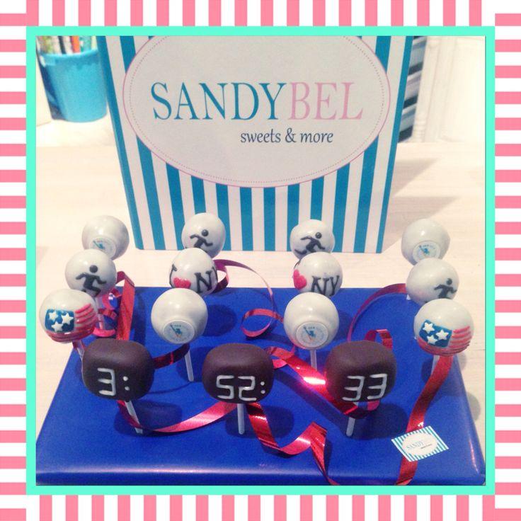 Belohnung für einen erfolgreichen New York Marathon Läufer #cakepops by #sandybel #newyorkmarathon #marathon #nürnberg