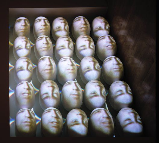 Tony Oursler - Artist who projects animations onto 3D surfaces. Cool stuff