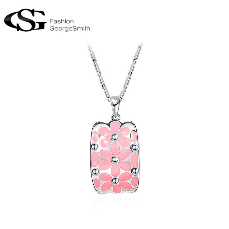 GS Women Necklace Fashion Bohemian Jewelry Statement Necklaces Pink Necklaces & Pendants Collier Femme #Affiliate