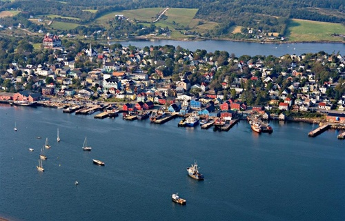 Old Town Lunenburg, located at the Lunenburg County in Nova Scotia, Canada