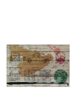 73% OFF Oliver Gal 'Voiture Spring' American Reclaimed Wood Wall Art