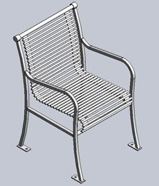 PA301 papio signature horizontal bar chair