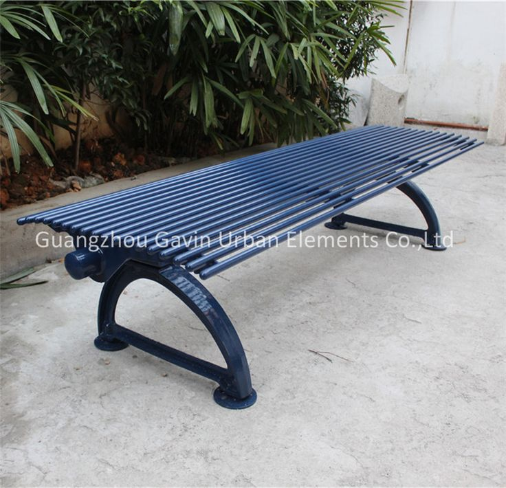 Backless Cast Iron Park Bench